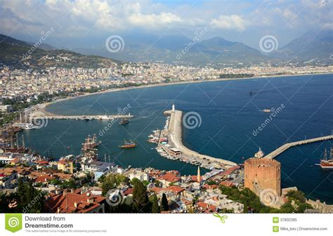 porto della turchia vista porto di alanya turchia fotografia stock