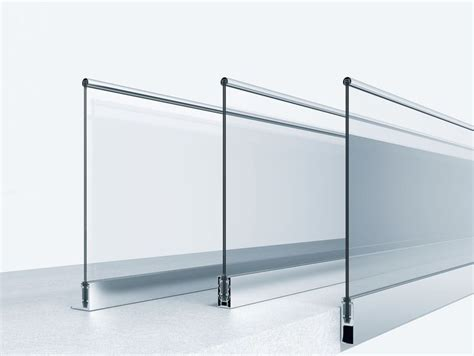 revit barandilla cristal outdoor railing metal glass panel for balcony