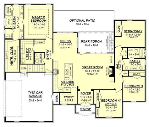 luxury ranch floor plans loving the layout of this luxury ranch style home plan