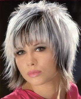 what enhances grey hair round the face short shag hairstyle for women emo haircuts and short shag