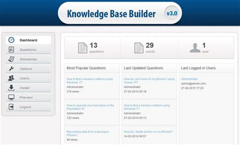 website templates for knowledge base knowledge base builder knowledge base software phpjabbers