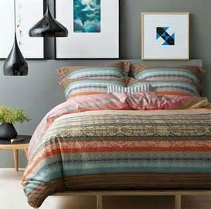 Turquoise King Size Duvet Cover New 100 Cotton Ikea Casa Boho Bedding Set Colorful