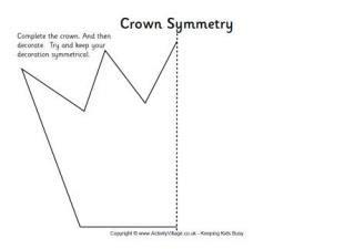 crown template ks1 royal family worksheets