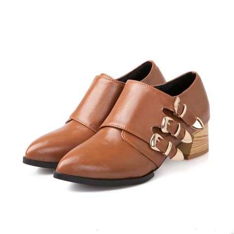 2015 oxford shoes for low heels zip