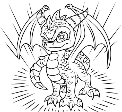 skylanders dragons coloring pages coloriage skylanders spyro coloriages 224 imprimer gratuits