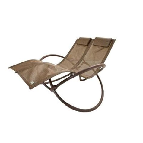 orbit chaise lounge rst brands double orbital sling patio chaise lounger in