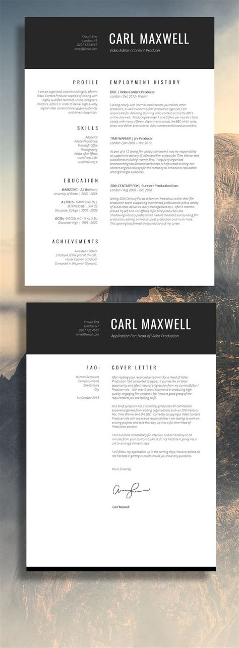 one page resume examples unique resume template e page professional