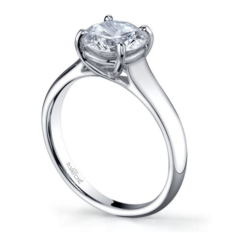 solitaire platinum engagement ring mounting
