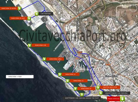 civitavecchia map transportation between rome and the cruise of