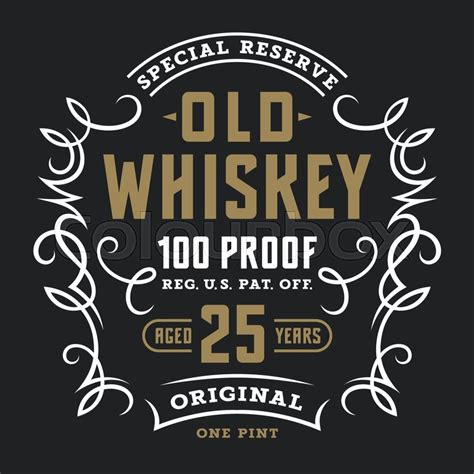 Whiskey Label Template vintage whiskey label template stock vector