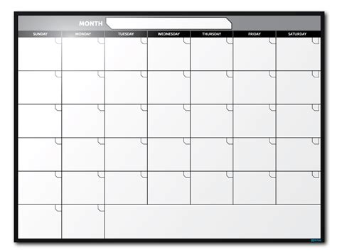 Month At A Glance Calendar Month At A Glance Custom Erase Whiteboards
