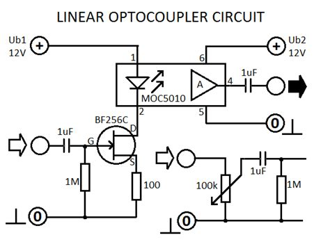 design guidelines for transistor output optocouplers linear optocoupler circuit