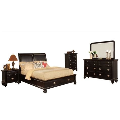 Black California King Platform Bed Garcon Black Platform California King Bed Home Furniture Direct