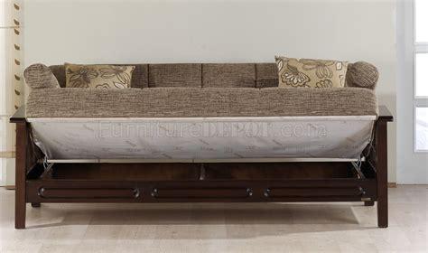 wooden sleeper couch fume microfiber living room w wooden frame sleeper sofa