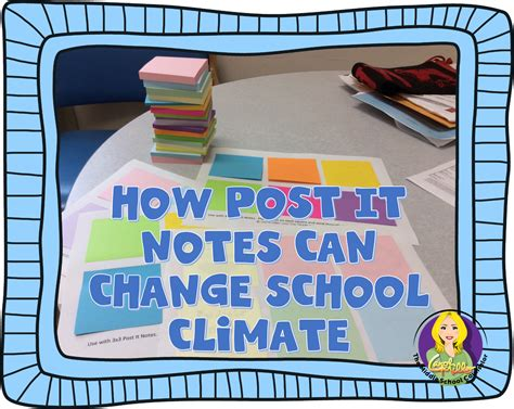 how post it notes can change school climate the middle