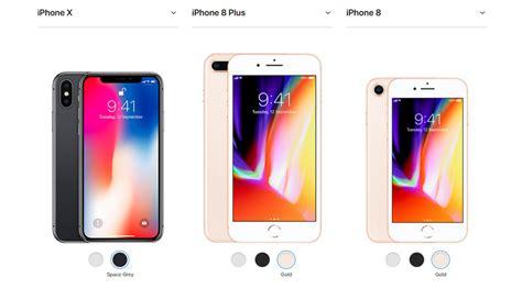 comparison iphone 8 vs 8 plus vs x specifications and price techmoran