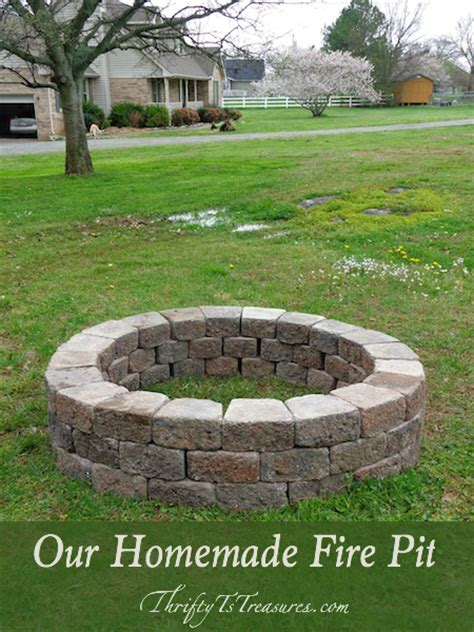 home made firepit our pit thrifty t s treasures