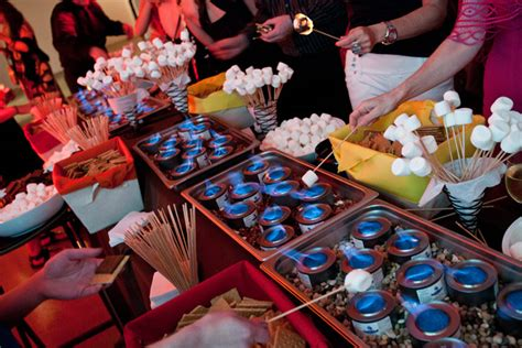 Bridal Guide New Catering Trends To Savor Sterno S Mores Buffet