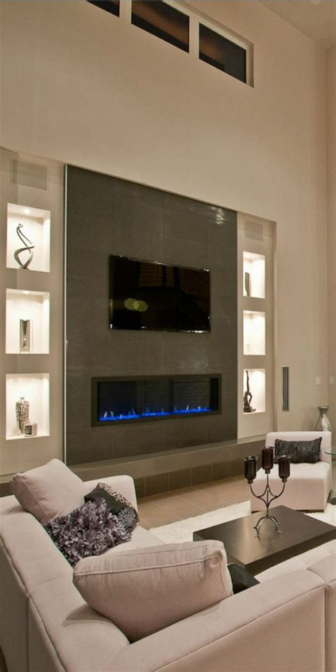 electric fireplaces tv above home decorating trends