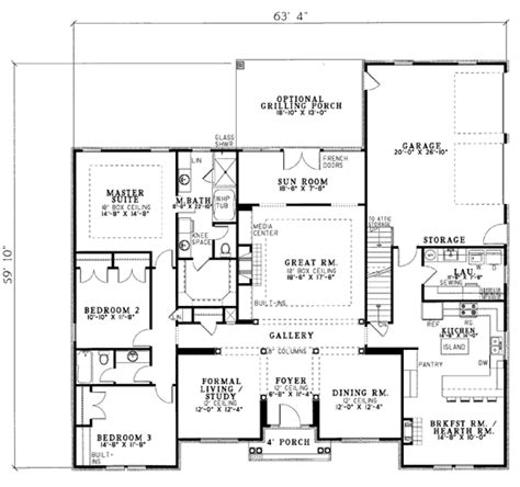 house plan 20003 at familyhomeplans com symmetrical house plans home design 2017