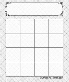 bingo card template blank 7x7 5x5 bingo templates cards bingo free printable bingo