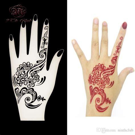henna tattoo hand vorlagen new henna stencils flower lace glitter