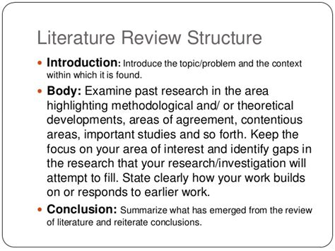 Essay Structure Literature Review | how to write a literature review non plagiarized term