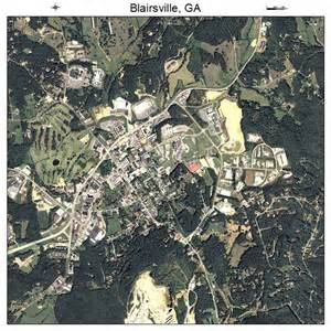 aerial photography map of blairsville ga