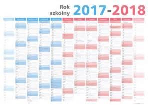 Kalendarz Ze świętami Na 2018 Rok Kalendarz Planszowy Na Rok Szkolny 2017 18 Format 59x84