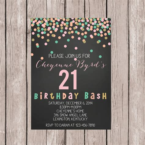 free 21st birthday invitations templates printable 21st birthday invite 21st birthday invitation