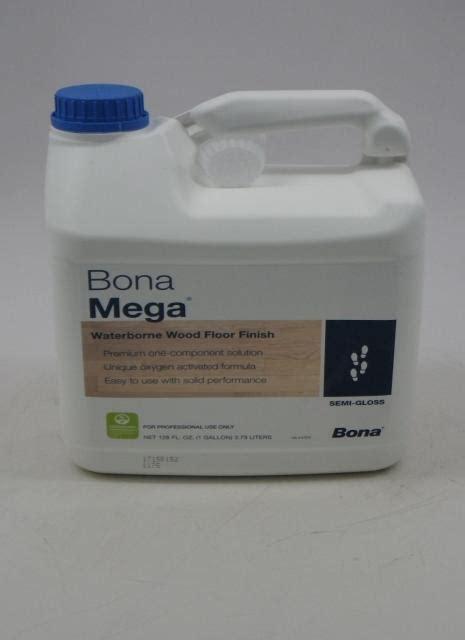 bona mega waterborne wood floor finish semi gloss gallon chicago hardwood flooring
