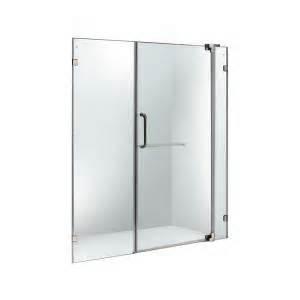 home depot pivot shower doors vigo 60 in to 66 in x 74 in adjustable frameless pivot
