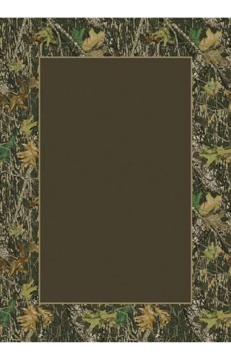 milliken mossy oak camo breakup solid center rug country