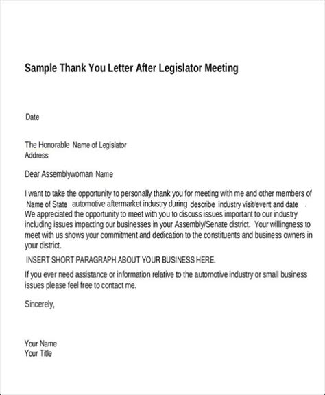 business letter format for meeting things to say in a thank you letter for business