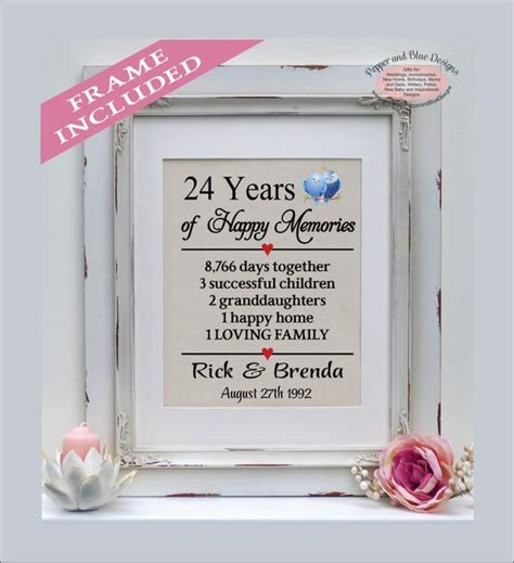 24th wedding anniversary 24 years married 24 years together