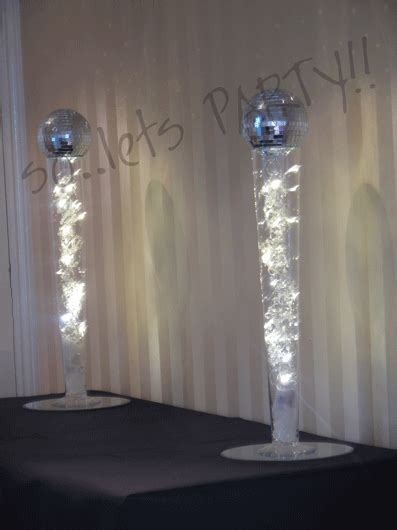 mirror ball table decoration  lets party