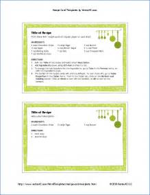 free recipe template free printable recipe card template for word