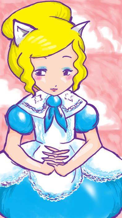 Cat Blue Dress cat eared with blue dress by kiyokouu on deviantart