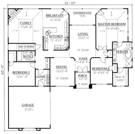 modern master bedroom floor plans house plan 50219 at familyhomeplans com