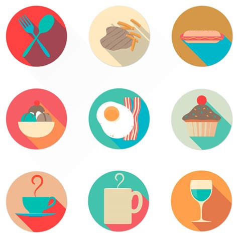 icon design pinterest flat food icons oxygenna web design icon set