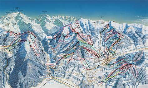 Saint Gervais Mont Blanc Plan des pistes de ski Saint Gervais Mont Blanc