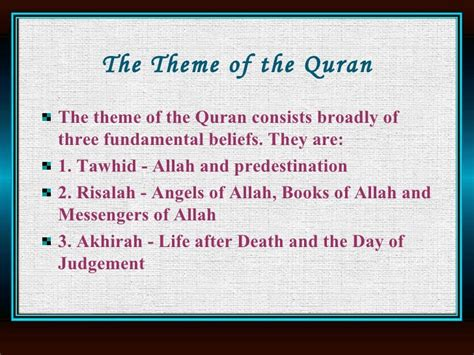themes of the quran quran