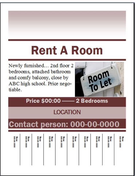 for rent flyers templates rent a room flyer template publisher flyer templates