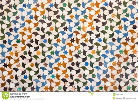 tile decoration tile decoration alhambra palace spain stock photo