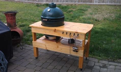 diy big green egg table projects shelterness