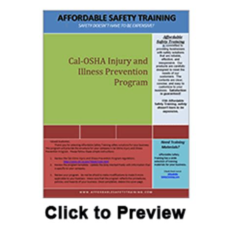california injury and illness prevention program xo safety