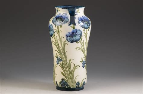Poppy Vase by Moorcroft Poppy On White Florianware Vase C 1905