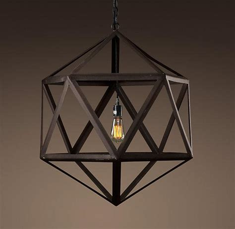 Outdoor Lighting Restoration Hardware Steel Polyhedron Medium Pendant Outdoor Lighting Restoration Hardware