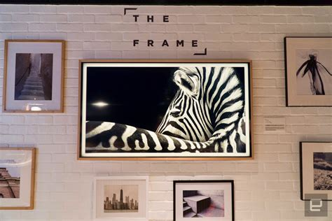 samsung s the frame tv blends in with the on your wall