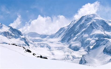 wallpaper winter snow capped mountains thick snow white